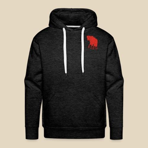 Red Bear - Sweat-shirt à capuche Premium pour hommes