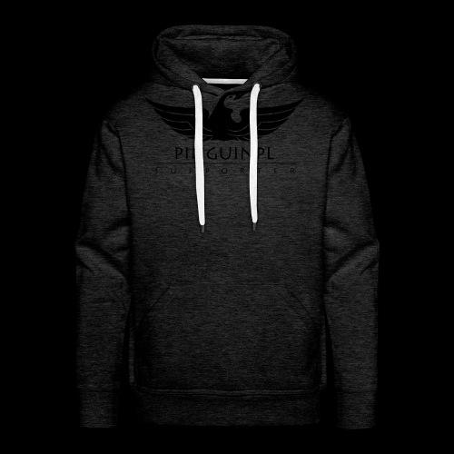 zwolennikiem Blackline - Bluza męska Premium z kapturem