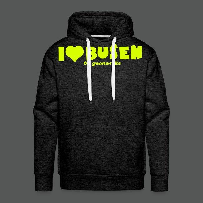 I love Busen Helmet back | Sweat shirt à capuche Premium pour hommes
