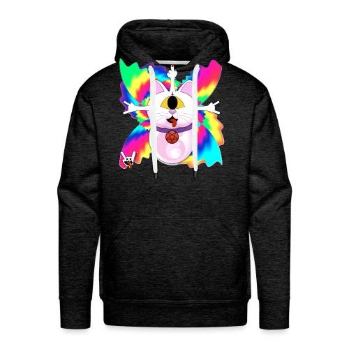 Chat diabolique - Sweat-shirt à capuche Premium pour hommes