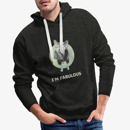 I'm fabulous with the Cat - Männer Premium Hoodie