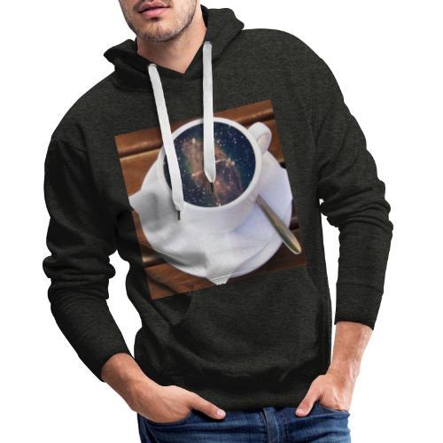 Café - Sweat-shirt à capuche Premium pour hommes