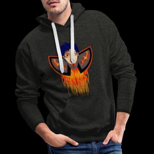 vampire en flamme - Sweat-shirt à capuche Premium pour hommes