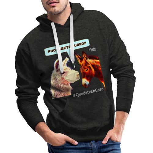 PROTEGETE BURRO - Sweat-shirt à capuche Premium pour hommes