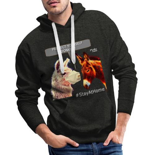 Protect Yourself Donkey - Coronavirus - Sweat-shirt à capuche Premium pour hommes