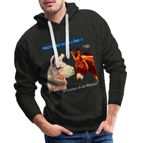 PROTEGEZ-VOUS L'ÂNE !! - Coronavirus - Sweat-shirt à capuche Premium pour hommes
