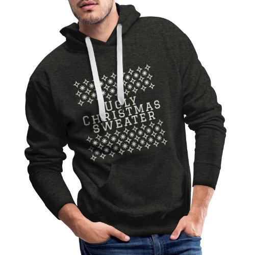 Ugly Christmas sweater, maglione natalizio festoso - Felpa con cappuccio premium da uomo