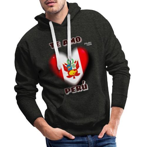 Te Amo Peru Corazon - Sudadera con capucha premium para hombre