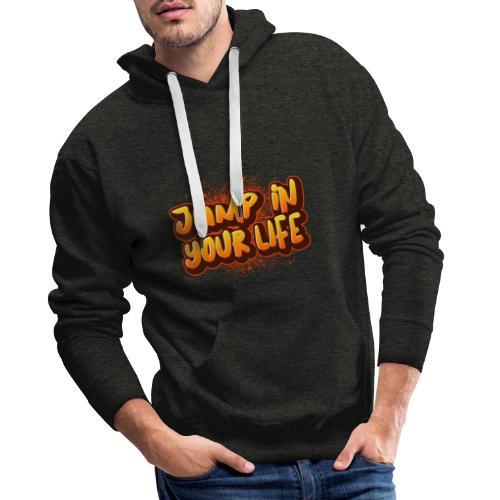 La vie... - Sweat-shirt à capuche Premium pour hommes