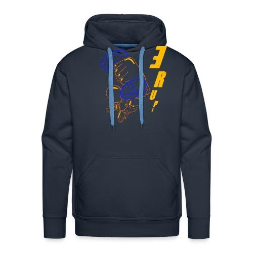 La puissance est dans ton style ERUPT - Sweat-shirt à capuche Premium pour hommes