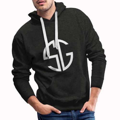 SemGamer log in wit - Mannen Premium hoodie