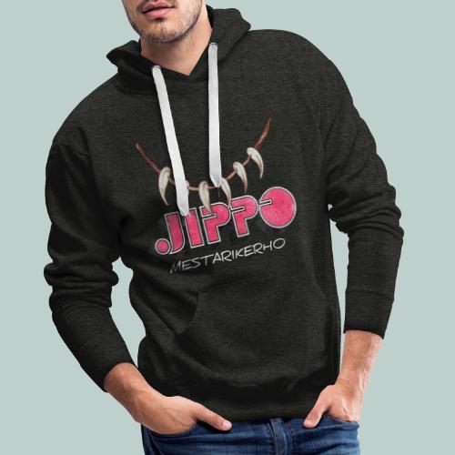 jippomestari_pink - Miesten premium-huppari