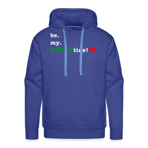be my VEGANtine - white - Men's Premium Hoodie