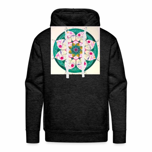 mandala rosa - Sudadera con capucha premium para hombre