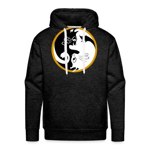 Ying yang cats - Sweat-shirt à capuche Premium pour hommes