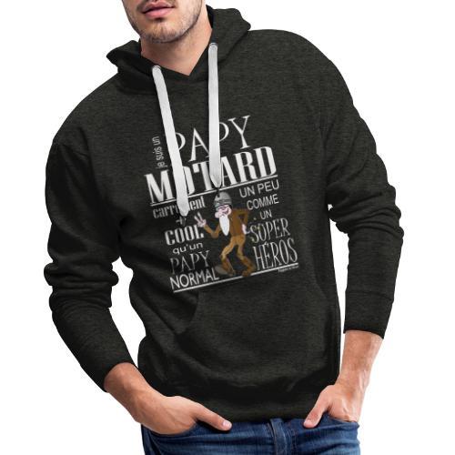N 182 PAPY MOTARD 2020 - Sweat-shirt à capuche Premium pour hommes