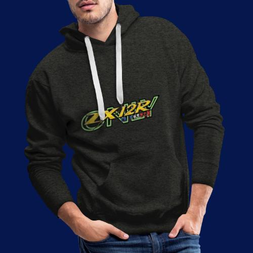 New Logo ZX-12R in French Only - Sweat-shirt à capuche Premium pour hommes