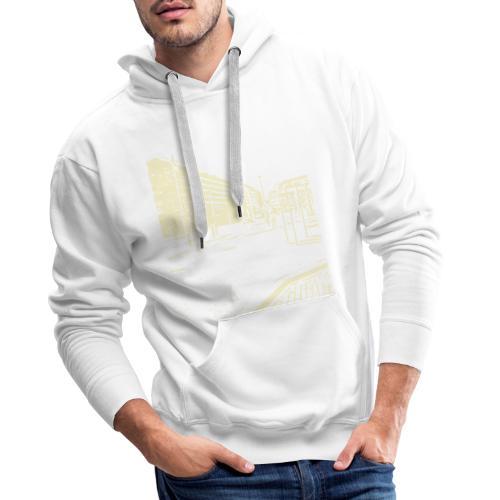 helsinki railway station pattern trasparent beige - Men's Premium Hoodie