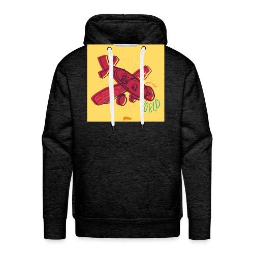 avion - Sweat-shirt à capuche Premium pour hommes