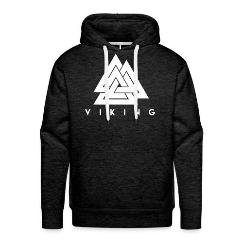 I lov Viking White - Sweat-shirt à capuche Premium pour hommes