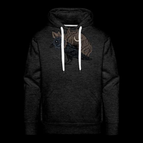 Lost corbeau - Sweat-shirt à capuche Premium pour hommes