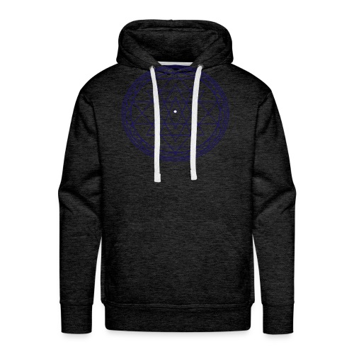 isacred geometry violet - Felpa con cappuccio premium da uomo