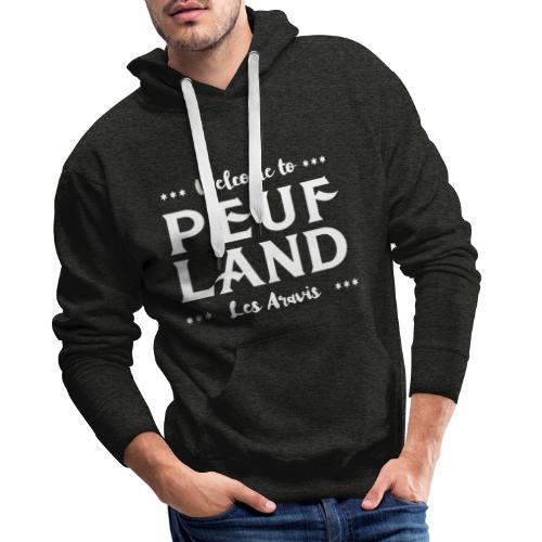 Peuf Land Aravis - White - Sweat-shirt à capuche Premium pour hommes
