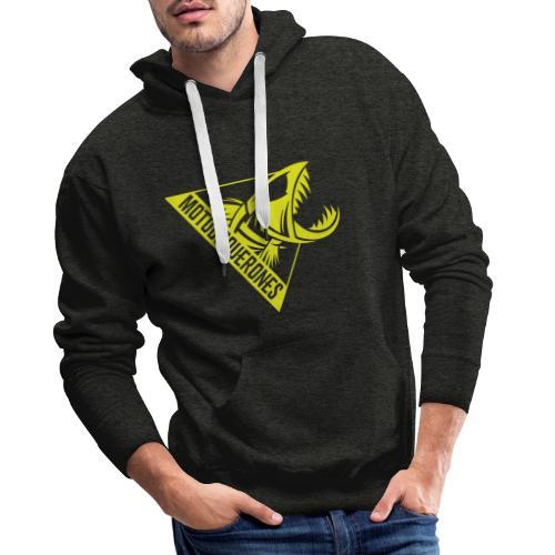 Logo Motoboquerones amarillo - Sudadera con capucha premium para hombre