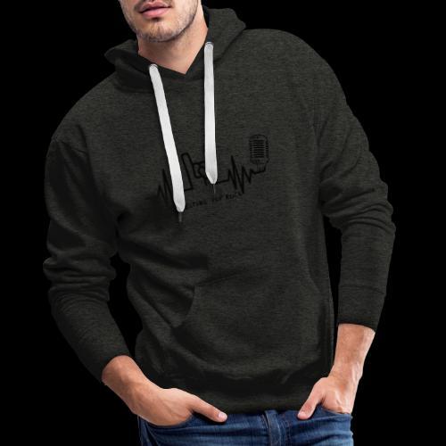 Logo noir Melting Pop Rock - Sweat-shirt à capuche Premium pour hommes