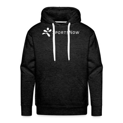 SportsNow-Logo Weiss - Männer Premium Hoodie