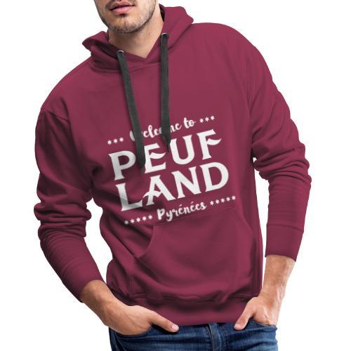 Peuf Land Pyrénées - White - Sweat-shirt à capuche Premium pour hommes