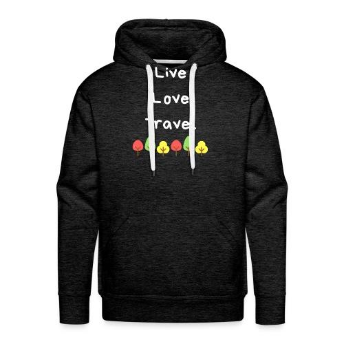 Live Love Travel weiss - Männer Premium Hoodie