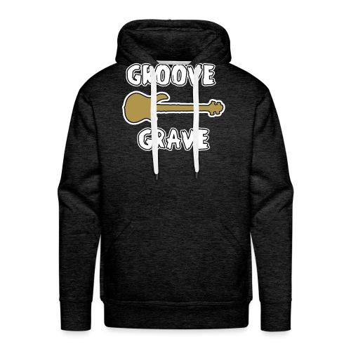 GROOVE GRAVE - JEUX DE MOTS - FRANCOIS VILLE - Sweat-shirt à capuche Premium pour hommes