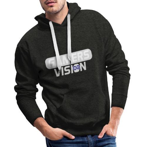 GamersVisionlogo Grijs - Mannen Premium hoodie