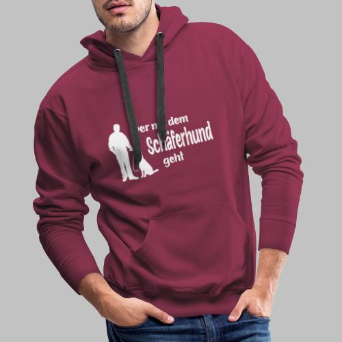 Der mit dem Schäferhund geht - White Edition - Männer Premium Hoodie