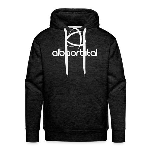 Alba Orbital Logo - White - Men's Premium Hoodie