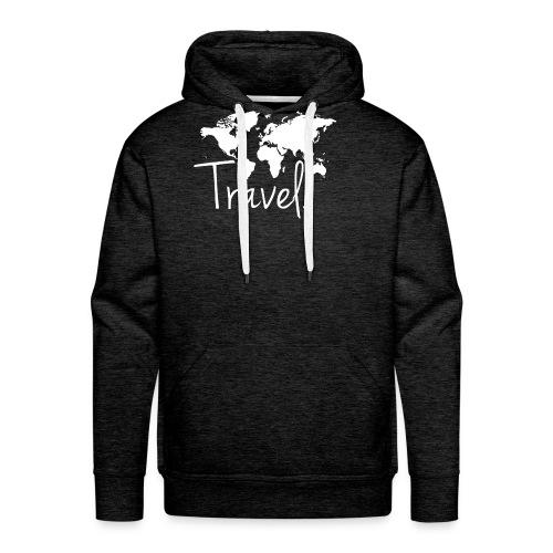 Travel. Weltkarte. - Männer Premium Hoodie
