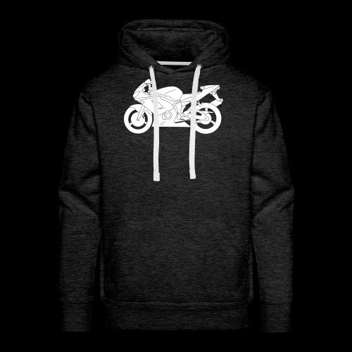 Four Wheels Moves The Body, Two Wheels Moves The S - Men's Premium Hoodie