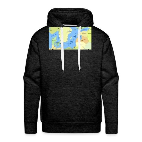 Baltic Sea Map - Men's Premium Hoodie
