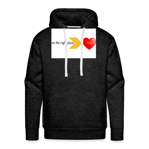 Heart on the right place - Mannen Premium hoodie
