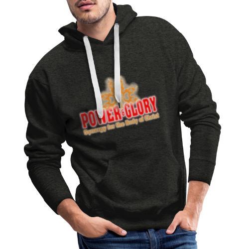 Power and Glory Logo glow red and orange - Men's Premium Hoodie
