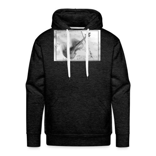 Violon - Sweat-shirt à capuche Premium pour hommes
