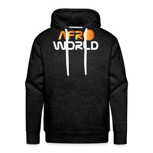 afro world - Sweat-shirt à capuche Premium pour hommes