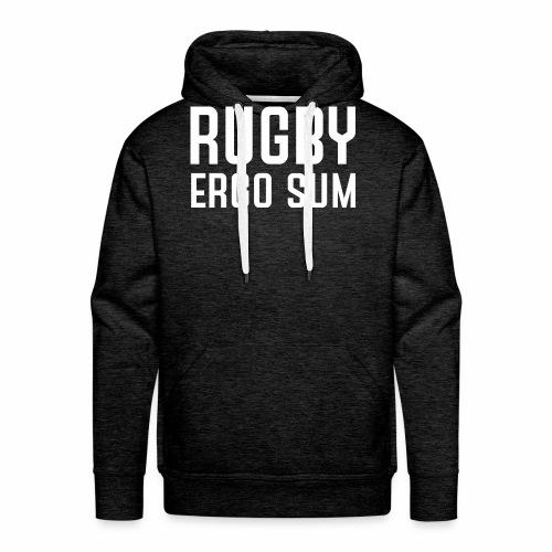 Marplo RugbyergosUM WHT - Felpa con cappuccio premium da uomo
