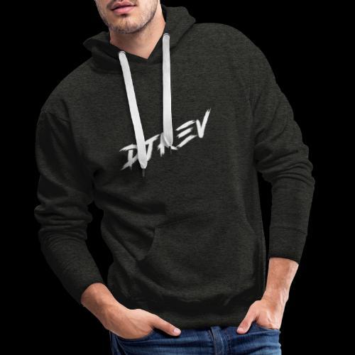 DJKEV Logo white - Sweat-shirt à capuche Premium pour hommes