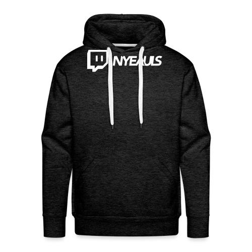nyeauls twitch white png - Mannen Premium hoodie