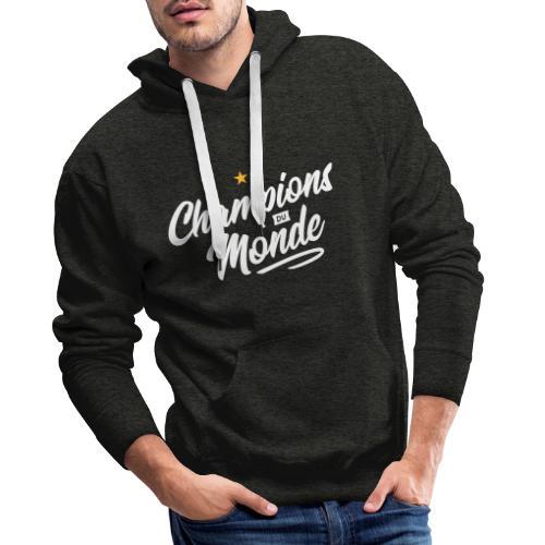 Champions du monde - Sweat-shirt à capuche Premium pour hommes