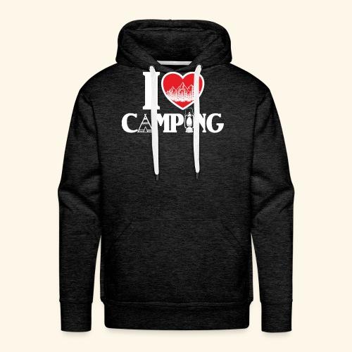 I love camping Herz Berge Zelt Lampe Tent Woods - Männer Premium Hoodie