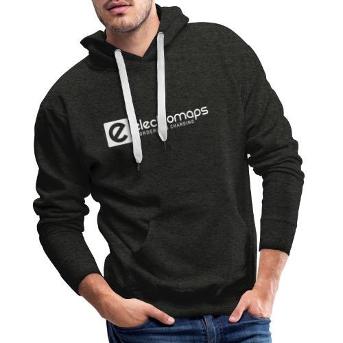 Electromaps logo white - Sudadera con capucha premium para hombre