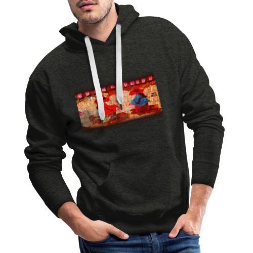 Dos Paisanitas tejiendo telar inca - Sudadera con capucha premium para hombre